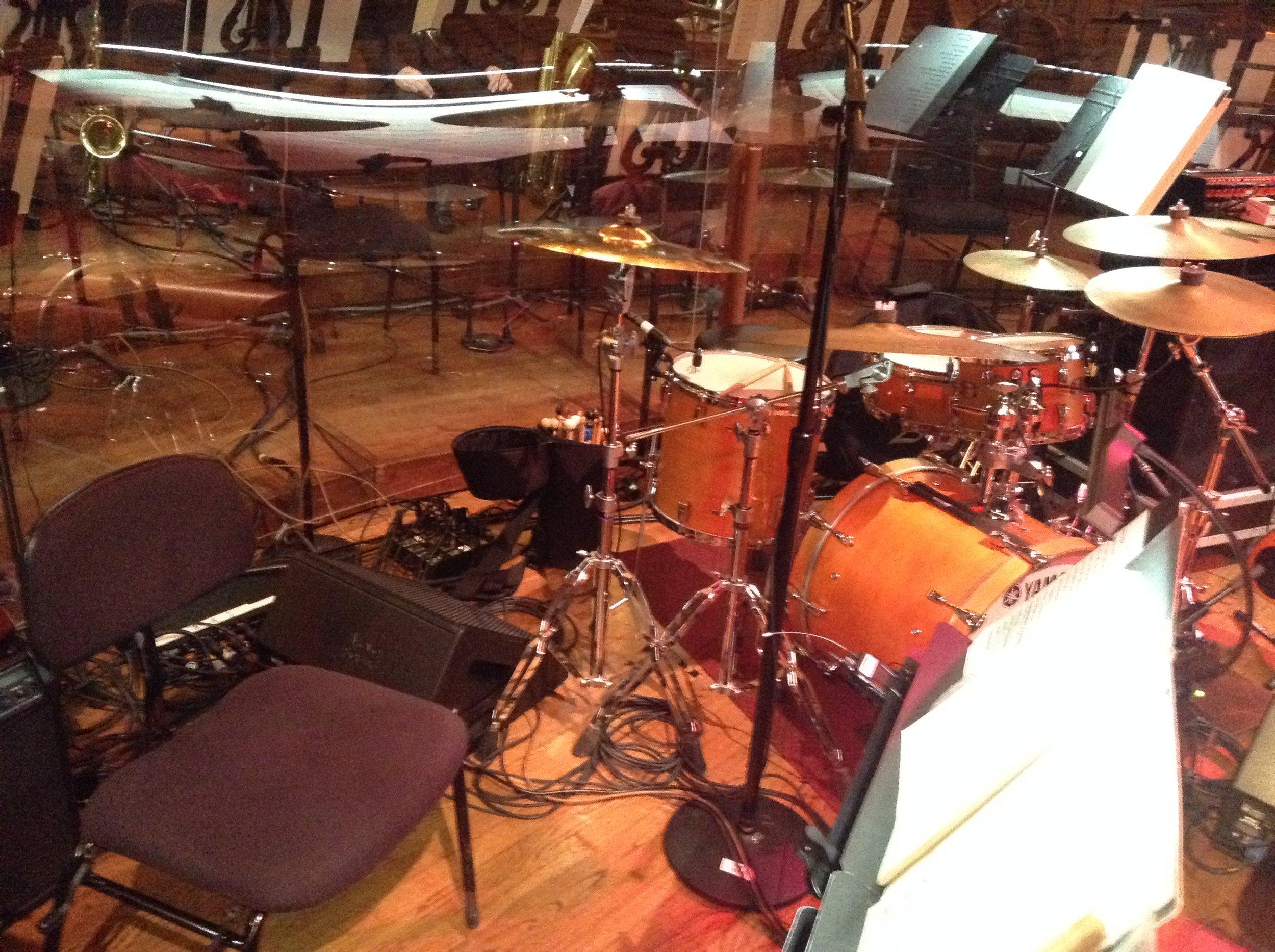 That's Jake Nissly's drum set.