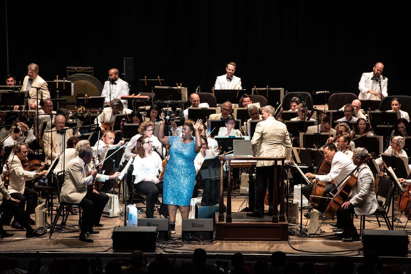 Capathia Jenkins and the SF Symphony at Shoreline Amphitheater - July 4, 2019  Photograph by Chris Tuite /  www.christuitephoto.com