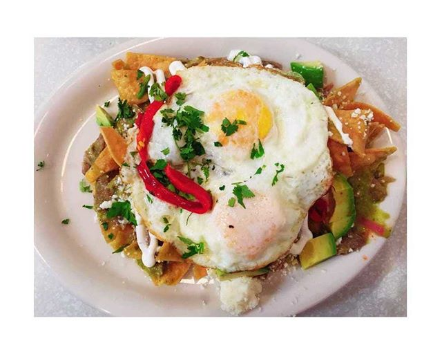 FARMER BOY SPECIAL - CARNITAS CHILAQUILES - Slow roasted pork carnitas, two eggs any style, house-made salsa, pickled red onion, queso fresco, cilantro. #Farmer_Boy_Diner #Since1958 #BreakfestIsServed #SantaBarbaraRestaurant #SantaBarbara #SantaBarbaraCA #VisitSantaBarbara #SeeSB #VisitSB #Eeeeeats #SantaBarbaraFood