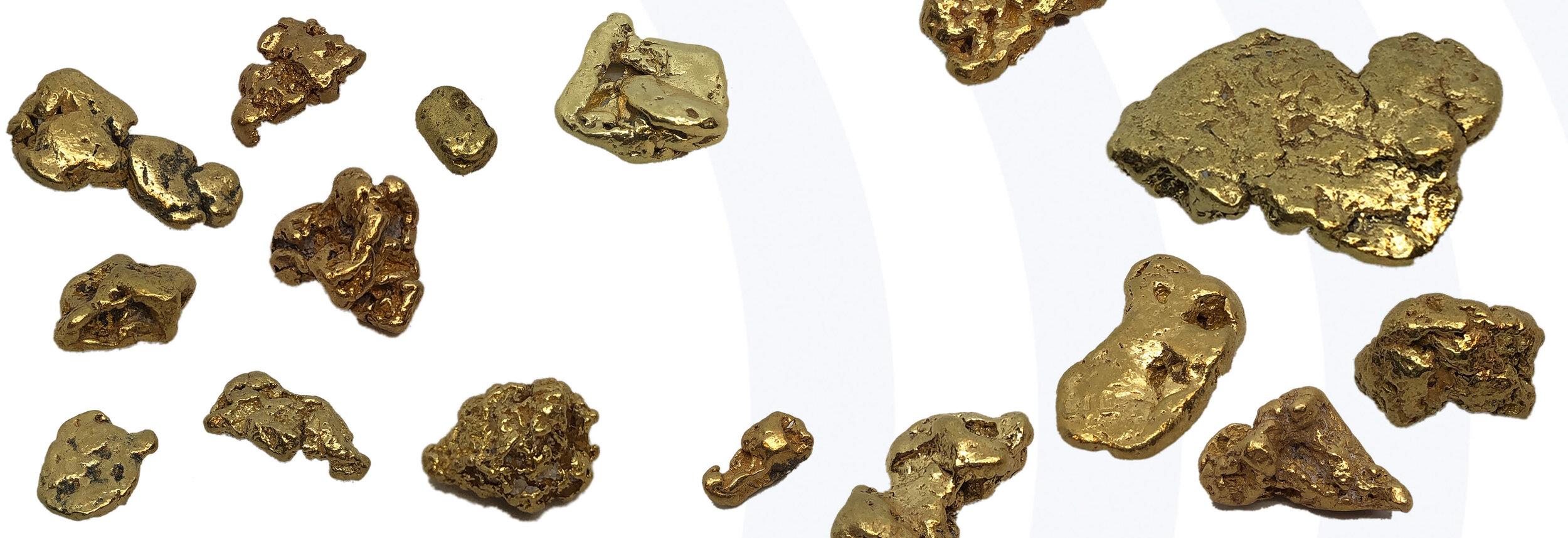 paydirt Niederrhein mind 50 mg Gold Nuggets Flakes mit Metalldose