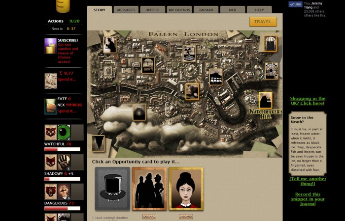 Fallen London isn't going to wow you on the graphics, but it doesn't need to when the story is so rich.