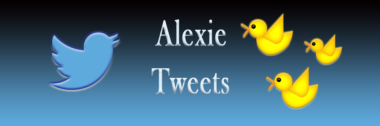 Click thru for Alexie's Twitter.