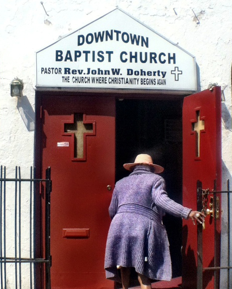 Sunday morning at Downtown Baptist Church, Malcolm X Blvd