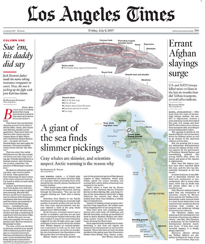 A giant of the sea finds slimmer pickings