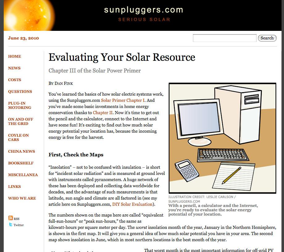 Solar newsletter illustration