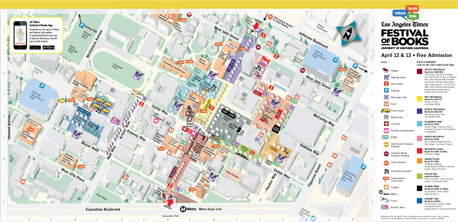 Los Angeles Times Festival of Books Map