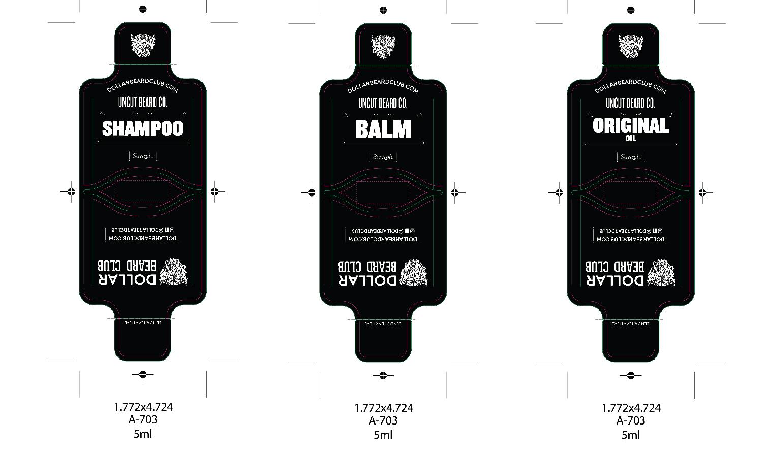Beard Product Sample Pack Design