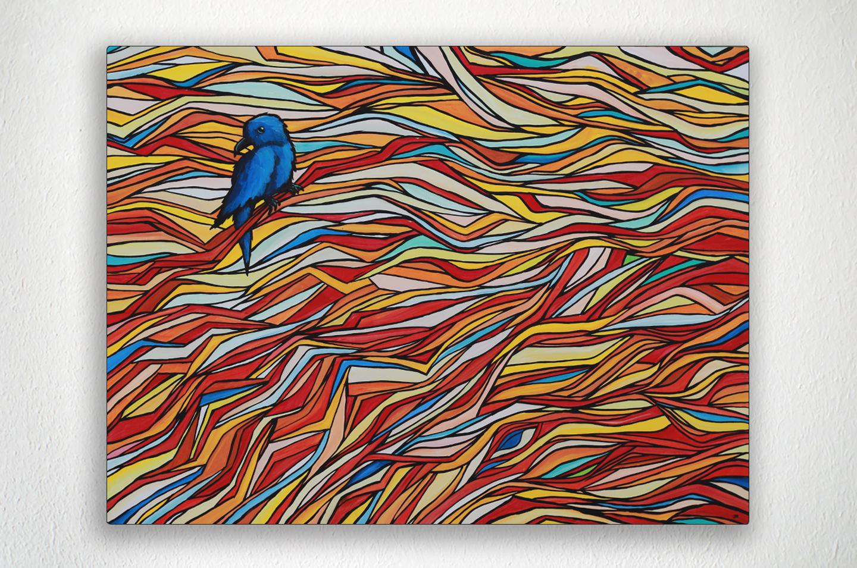 "BLUEBIRD - 40"" X 30"" - Acrylic on Canvas"