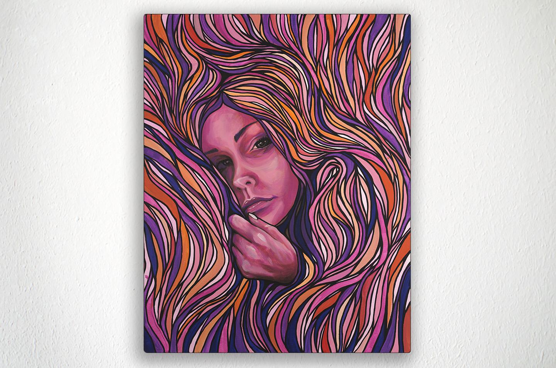 "NESTLED - 22"" X 28"" - Acrylic on Canvas"
