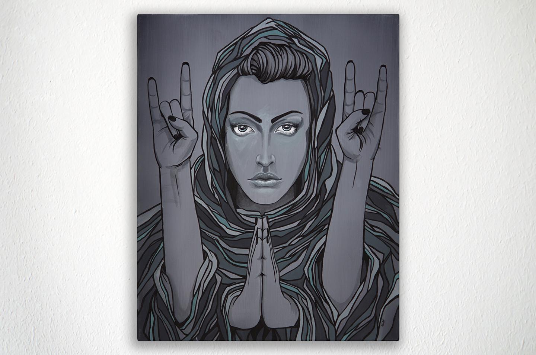 """DUALITY - 16"""" X 20"""" - Acrylic on Canvas"""