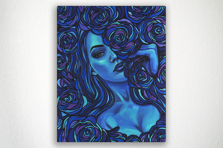 "ROSE - 16"" X 20"" - Acrylic on Canvas"