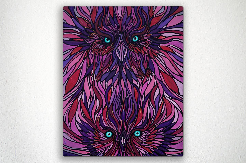 """THUNDERBIRDS - 16"""" X 20"""" - Acrylic on Canvas"""