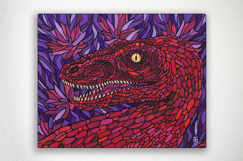 "TORONTO RAPTOR - 20"" X 16"" - Acrylic on Canvas"