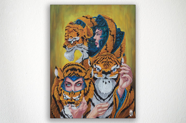 """THE WEIRD SISTERS - 24"""" X 30"""" - Acrylic on Canvas"""