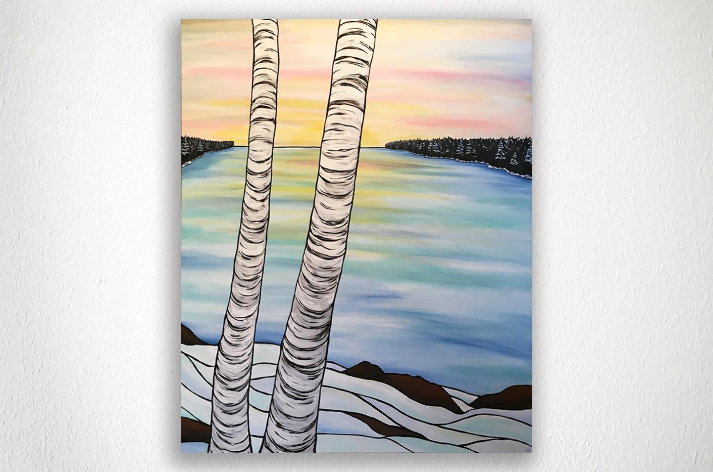 "BIRCH TREES - 36"" X 48"" - Acrylic on Canvas"