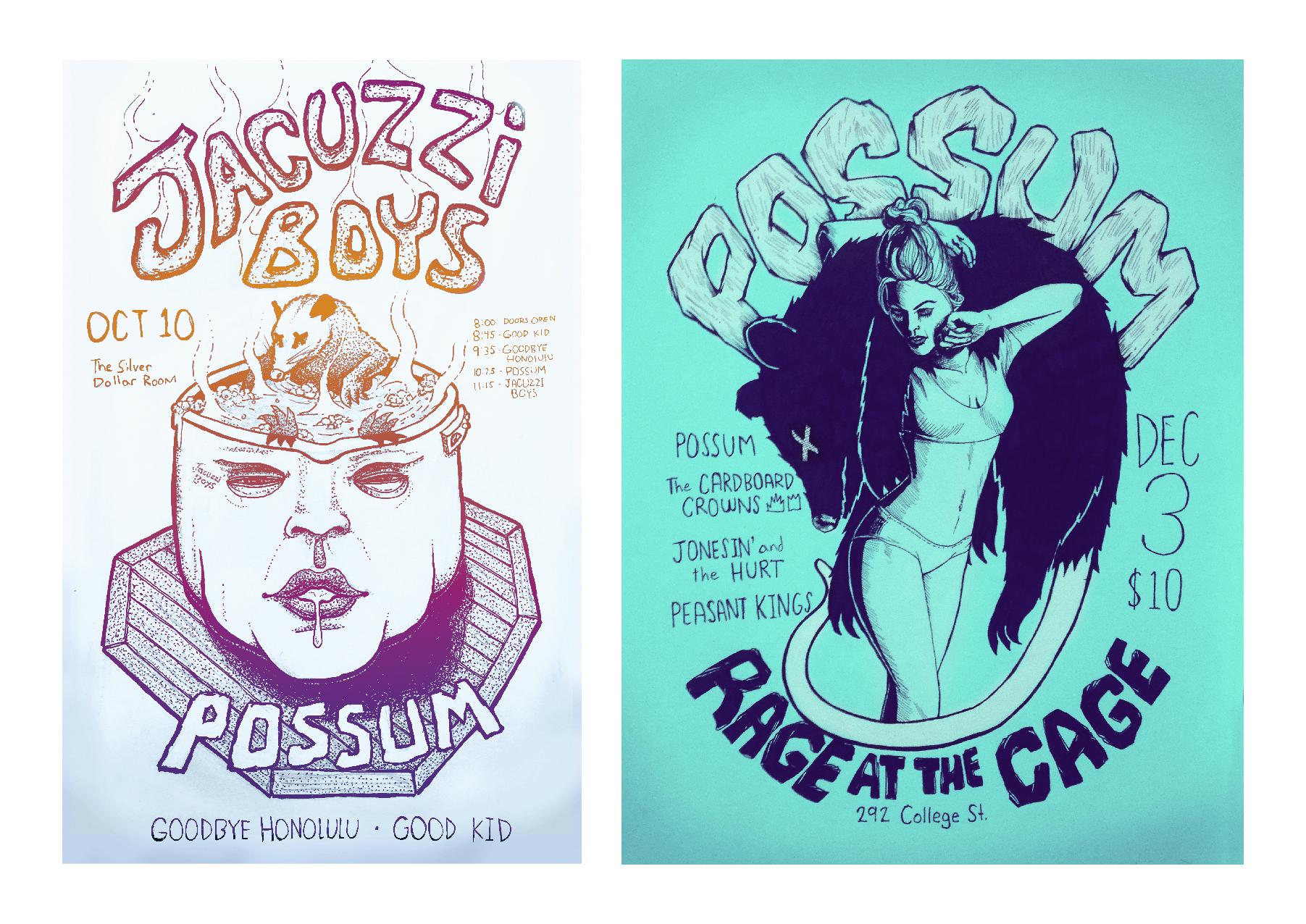 Possum music poster design