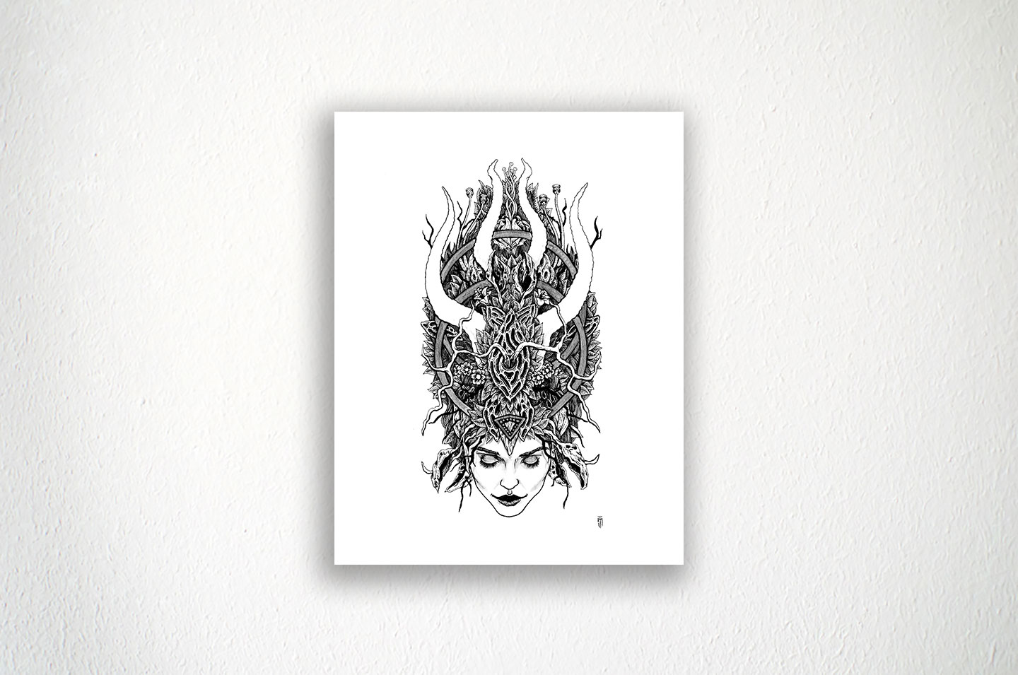 """Witches Crown - 8.5"""" X 11"""" - Ink on Paper"""