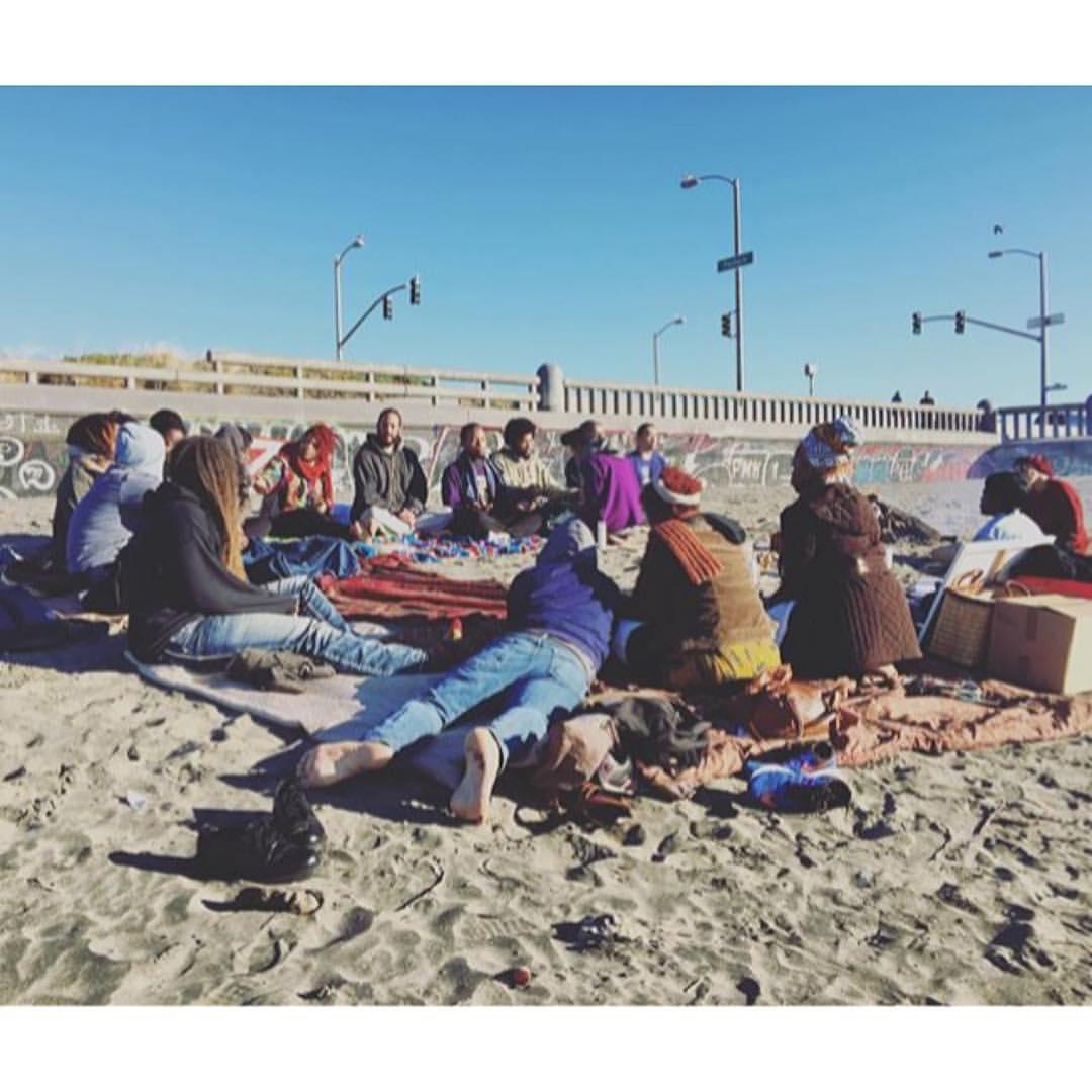 2015 NYE Healing Circle, San Francisco Ocean Beach