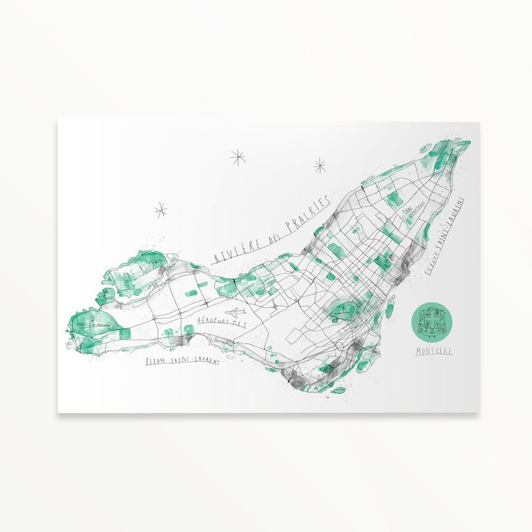 Baltic Club : carte de Montréal