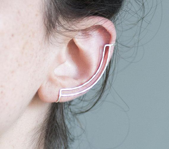 Knobbly : bijou d'oreille, Double Line Ear Cuff.