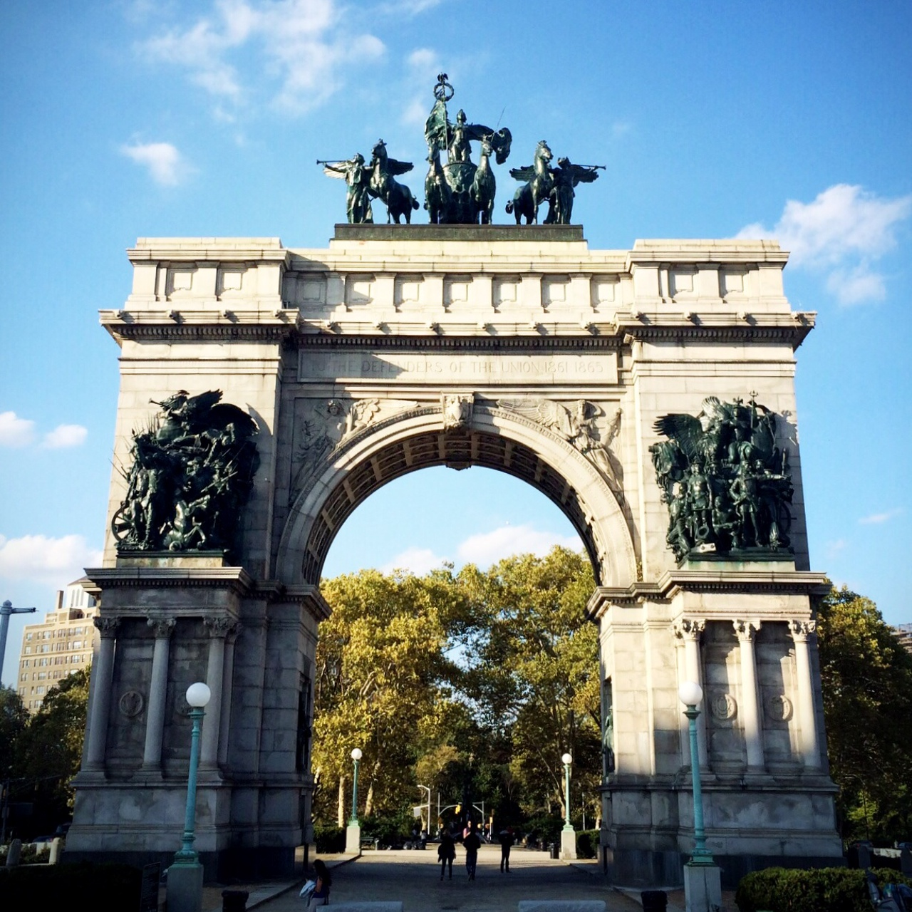 Grand Army Plaza, the gateway to Prospect Park, Brooklyn