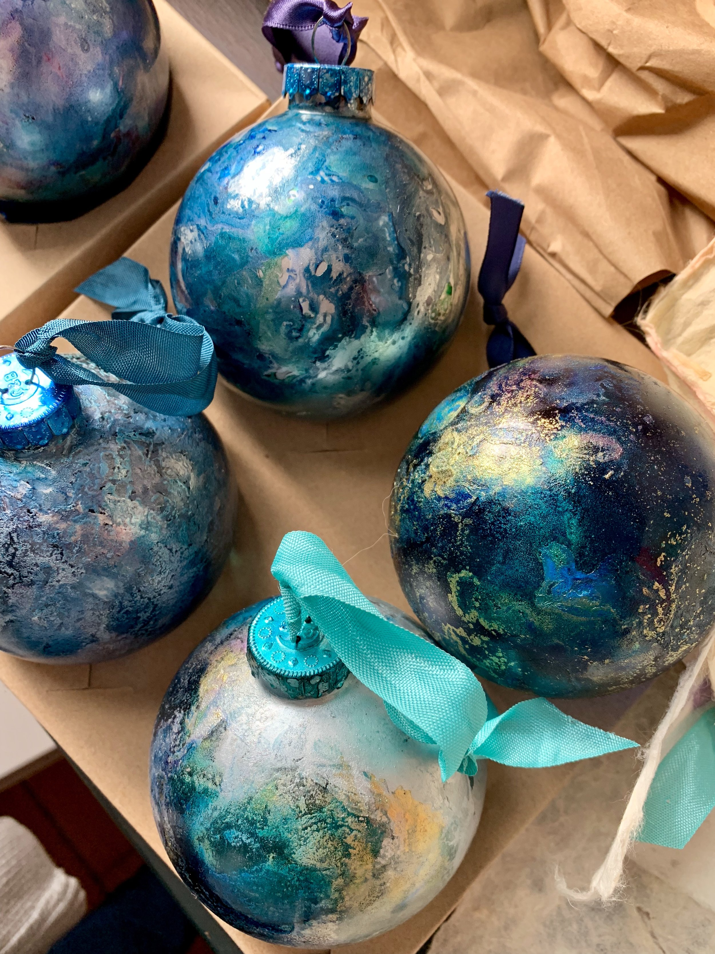 The Blue Planet Collection - Hand painted Ornaments for The Million Waves Project
