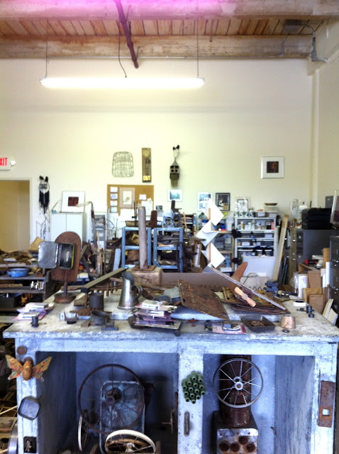 In Mildred's Studio. Image borrowed from http://shoplucilles.blogspot.com