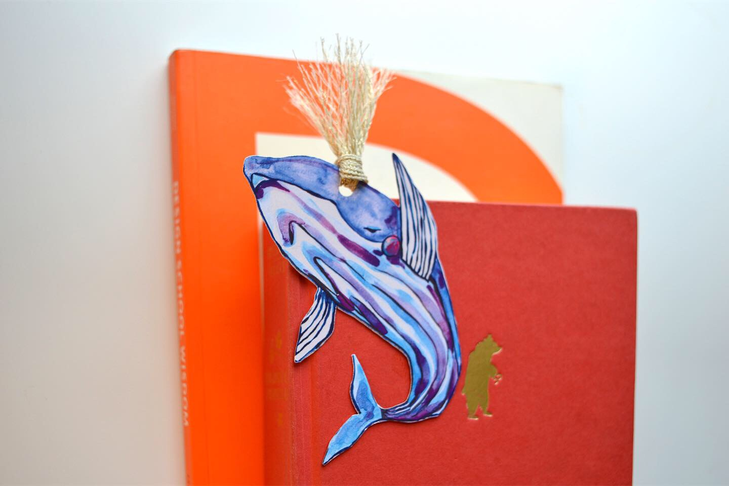 Whale bookmark in the shop!