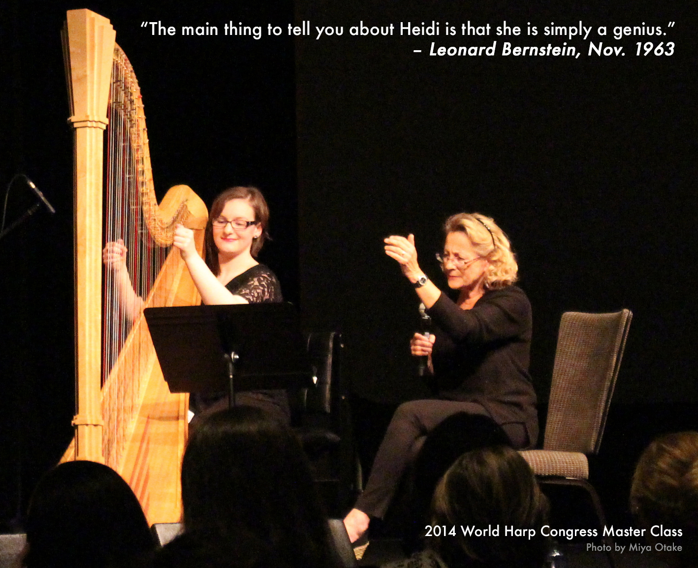 """We all listen with our eyes and this is why it is so important to play the harp with a visual approach to match your musical concepts."" - Heidi Lehwalder"