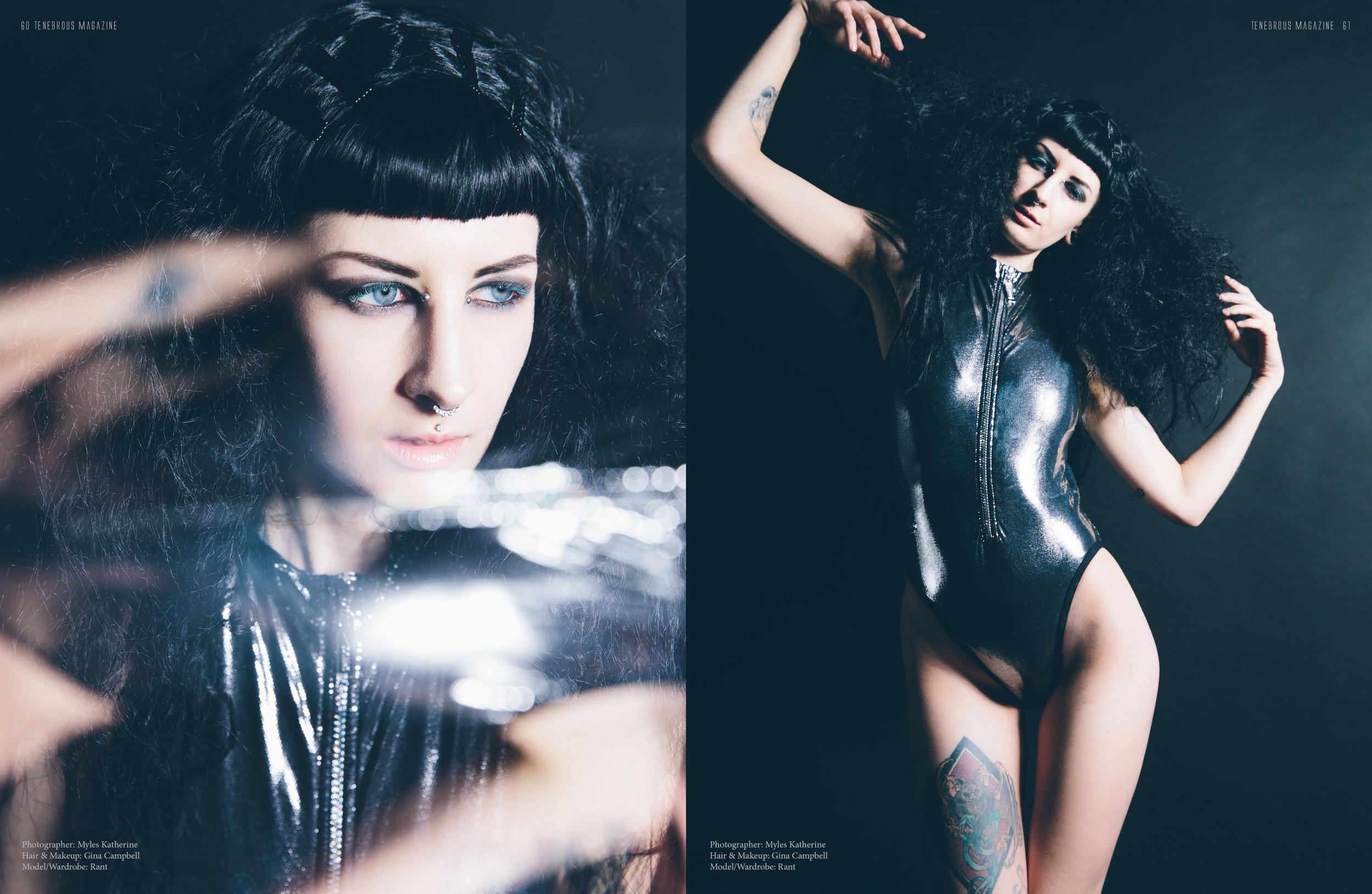 Tenebrous Magazine  Model: Rant  Photography:  Myles Katherine Photography