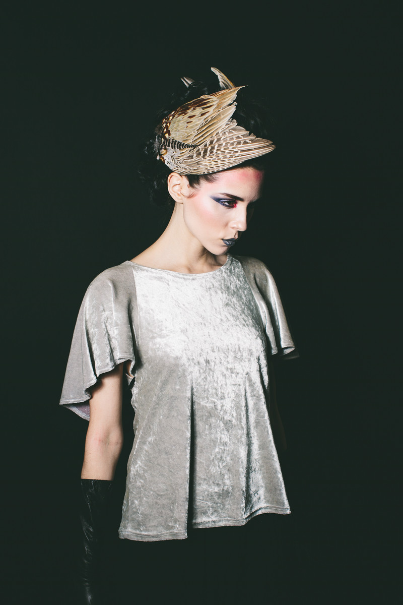 Cassie  Photography:   Myles Katherine Photography    Styling:   The Diamond Sea + Holly Stalder    Bird wing headpiece made by me