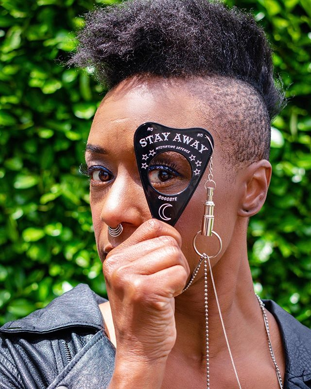 FOREVER MOOD @mystifyingdefense makes the raddest self defense planchette 🖤 Used @pacificabeauty alight clean foundation on the beautiful @thegalleryofgoodandevil Shot by my babe @sammyanne.photog 👏🏻👏🏻👏🏻 . . . Use code: BIRDBONES for free shipping with purchase of @mystifyingdefense . . . #pdx #pdxfashion #mystifyingdefense #portlandmakeupartist #makeup #makeupartist #notyours #notyourbabe #selfdefense #babe #badass #pacificabeauty #stayway #mood