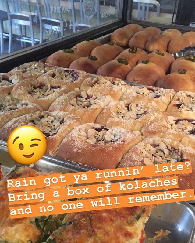 #kolachesarekool #everythinggoodrisesintheeast #eatmoretacos #breakfast #bakery #kolaches #eastnashville #nashville #kolache #drewsbrew #meyerssausage #kingarthurflour #sirgalahadartisanflour
