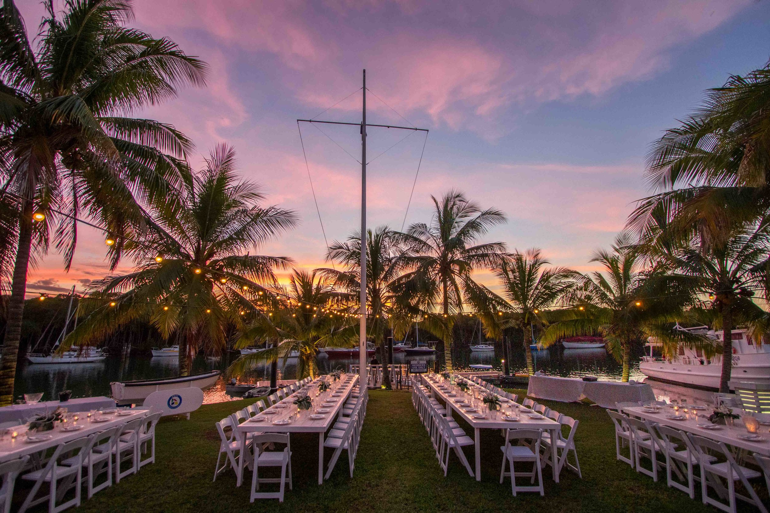 P.D. Yacht Club - Beautifully located next to the Crystalbrook Marina and on Dicksons Inlet, this stunning location is ideal for your next event.