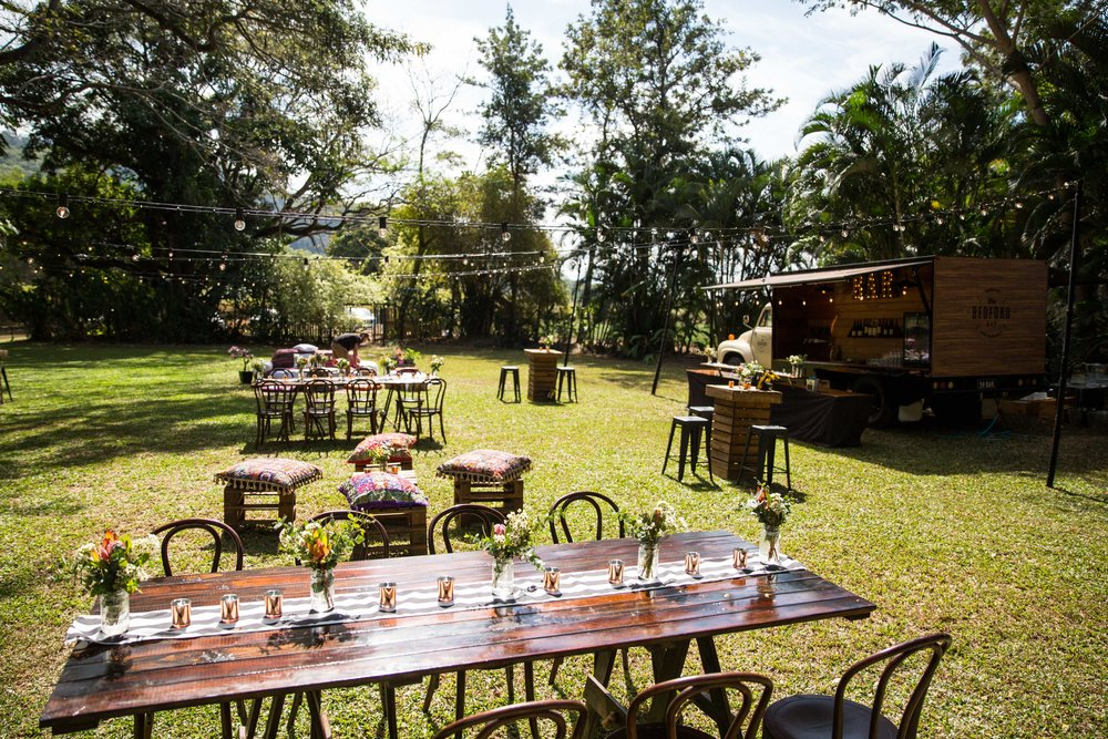 Rainforest Grotto - This secluded Rainforest location is set just out of town amongst the sugar cane for a personal and very private event.