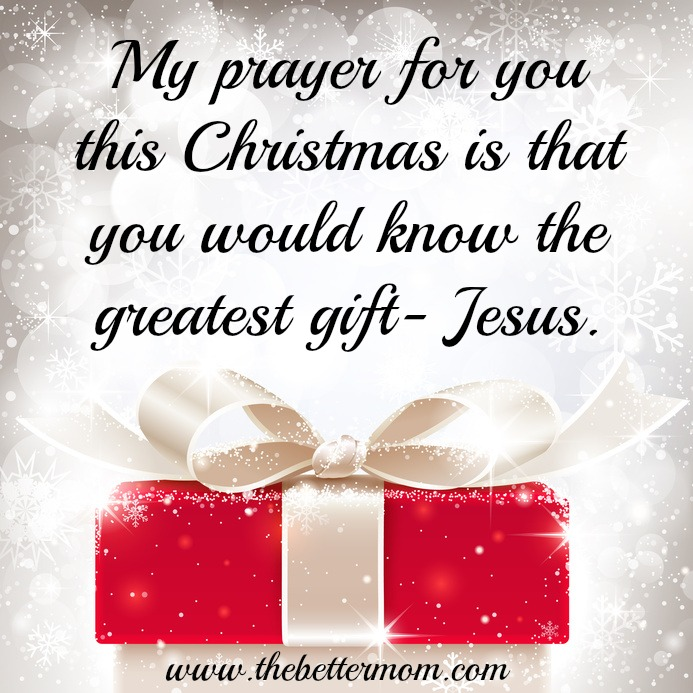 Know the Greatest Gift this Christmas- Jesus