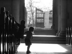 Why I Hide Behind My Kids At Church
