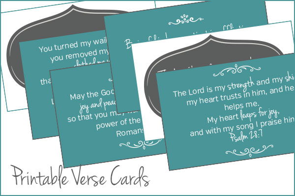 Printable Verse Cards