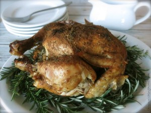 Slow Cooker Roasted Herb Chicken