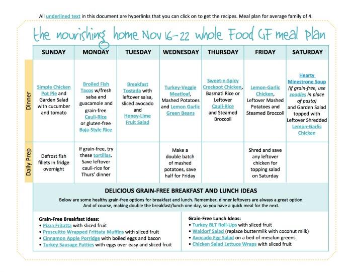 Nov 16-22 Meal Plan TNH