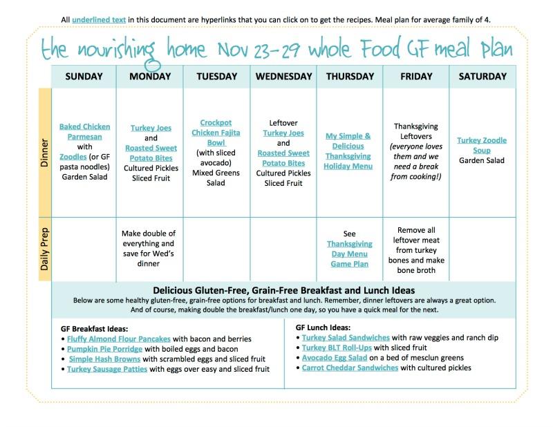 Nov 23-29 Meal PlanTNH