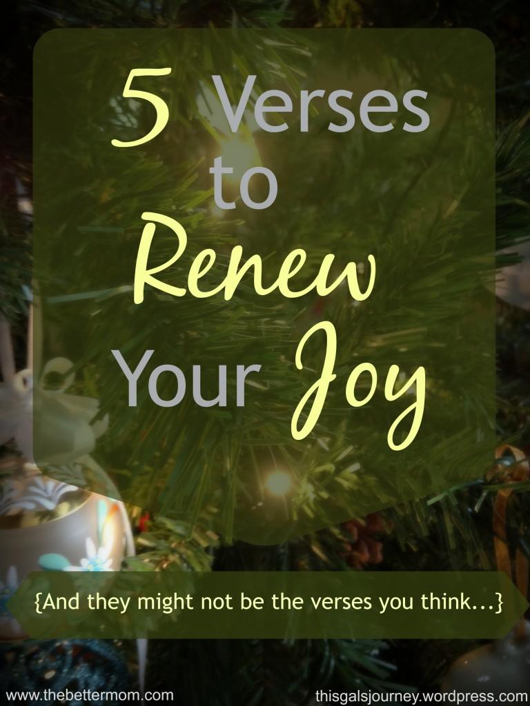 5 Verses to Renew Your Joy
