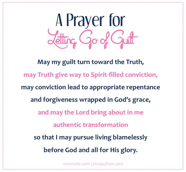 A Prayer for Letting Go of Mommy Guilt