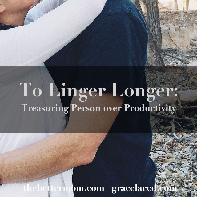 The one thing that feels superfluous in your day, may just be the most meaningful to your husband. Have you slowed down to linger lately?