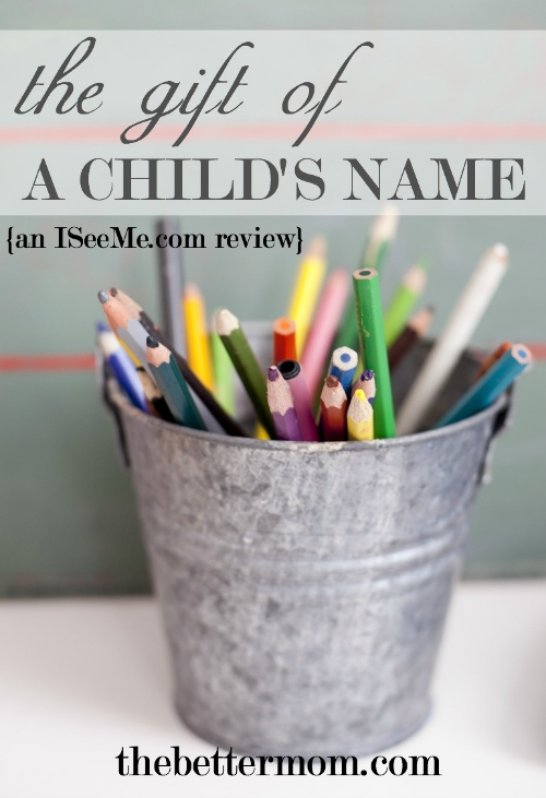 God has called us by name. He knows us personally! How can we personally call out the little ones in our families by name in a way that connects with their hearts? It's as simple as seeing their name written and hearing it spoken, too.