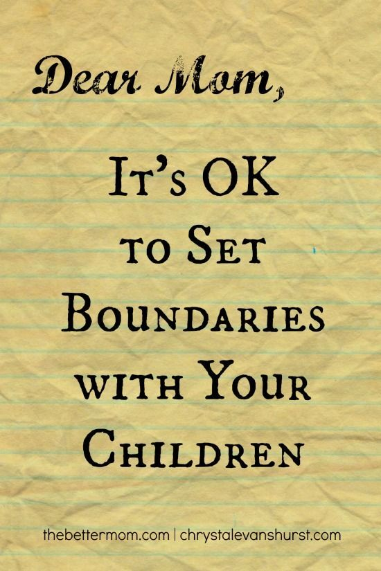 Sometimes moms need to set healthy boundaries. Communicating care and love for our children, but also setting limits and time for ourselves can be tricky. We're here to tell you, its ok!