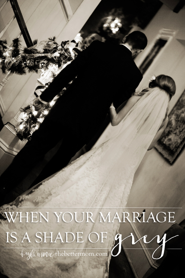 When life bears a course we'd never imagined, one with pain and struggle... Our marriages can often bear holes- gaps and wounds we don't know how to mend. When nothing is black and white anymore, when your marriage is all grey, don't forget that the truth is bold in red letter words. Through Christ, there is hope for you right now.