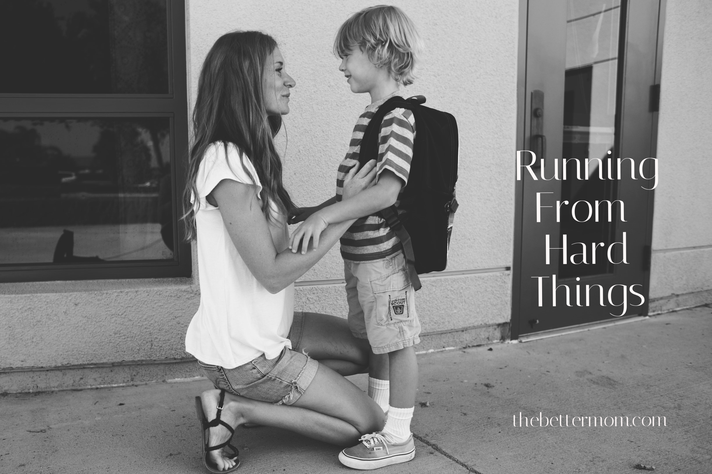 Do we runaway from things that scare us, or do we face them? When our children face hard things, may we be moms that respond by urging them towards christ as we care for them. Do your children know the great Comforter?