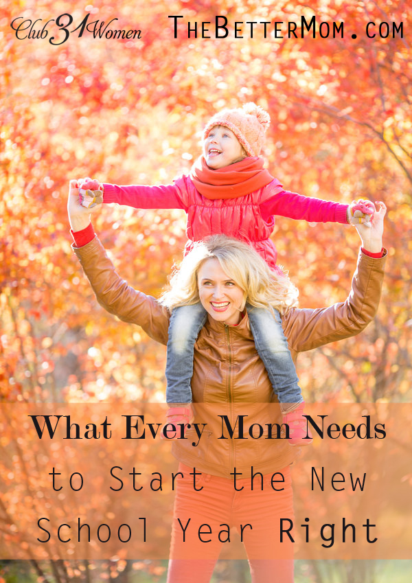 Want to have the best school year yet? There are a few things every mom can do to start this season off right. Here's to new beginnings!