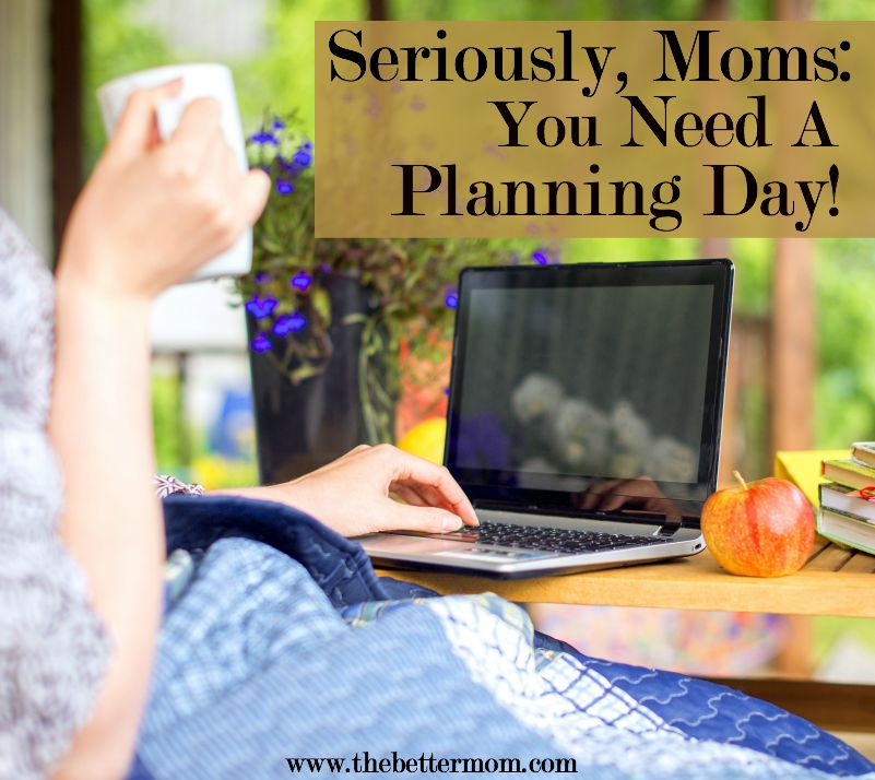 When you are just about ready to snap in this whole motherhood thing- you need to refuel. Why not give yourself a planning day? Here's how to build into your days, your home and your own heart while you make a plan for this season.